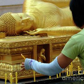Bob Christopher - Reclining Buddha Prayer Candles