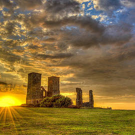 David Attenborough - Reculver Towers Kent Sunset