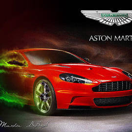 Serge Averbukh - Red 2007 Aston Martin DBS with Badge