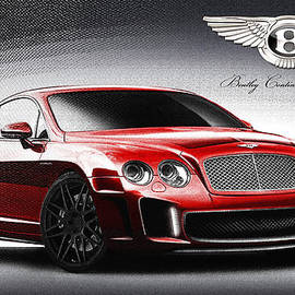 Serge Averbukh - Red 2011 Bentley Continental GT with Badge