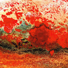 Sharon Cummings - Red Abstract Art - Lava - By Sharon Cummings