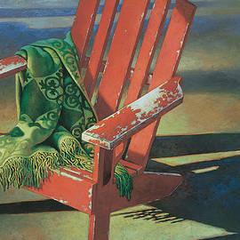 Mia Tavonatti - Red Adirondack Chair