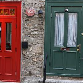 Juergen Roth - Red and Green Doors of Quebec