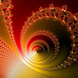Matthias Hauser - Red and yellow abstract fractal