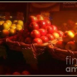Miriam Danar - Red and Yellow Apples in Baskets