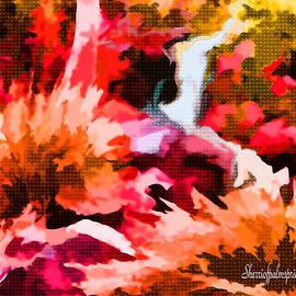 Sherri  Of Palm Springs - Red Art  Crazy Red Garden