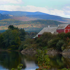 Nancy Griswold - Red Barn Along the Connecticut River