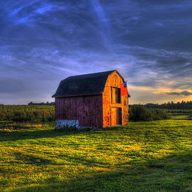 Joann Vitali - Red Barn Autumn Sunset