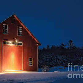 Scott Thorp - Red Barn during the Blue Hour