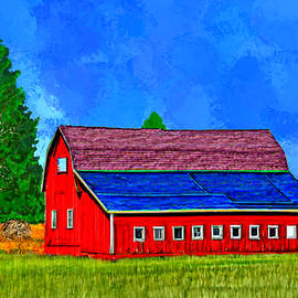 Bruce Nutting - Red Barn in the Country
