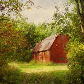 Shawna  Rowe - Red Barn in The Woods