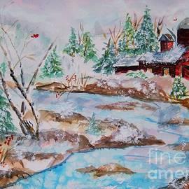 Ellen Levinson - Red Barn in Winter
