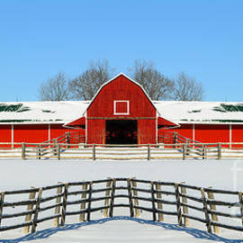 Les Palenik - Red Barn In Winter