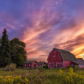 Mark Papke - Red Barn Sunset 2