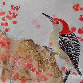 Laura Christie Eddington Artworks - Red-bellied Woodpecker Watercolor