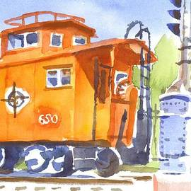 Kip DeVore - Red Caboose with Signal