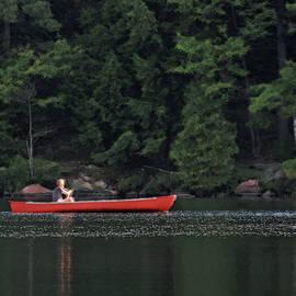 Renee Forth-Fukumoto - Red Canoe Summer Lake