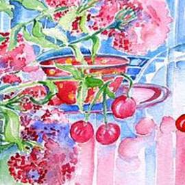 Trudi Doyle - Red Cherries and Sweet William