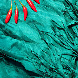 Rick Piper Photography - Red Chillies Blue Silk