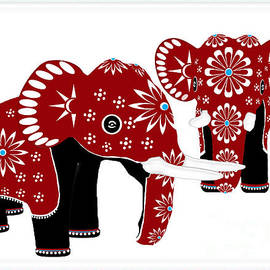 Indira Palasubramaniam - Red Elephants