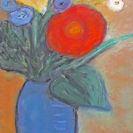 Tolere - Red Flower Blue Vase