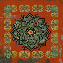 Kandy Hurley - Red Gold Framed Celtic Art