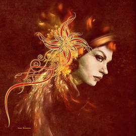 Georgiana Romanovna - Red Headed Woman Abstract Realism