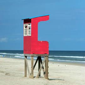 Cynthia Guinn - Red Lifeguard Stand