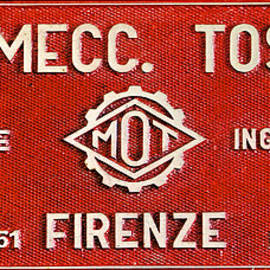 Red Metal Sign of Tuscany