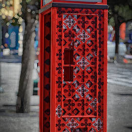 Mary Machare - Red Patterned Phone Booth - Oporto