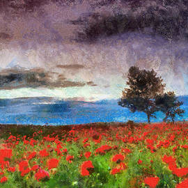 Georgi Dimitrov - Red poppies before the storm