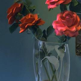 Liane Wright - Red Roses In A Vase