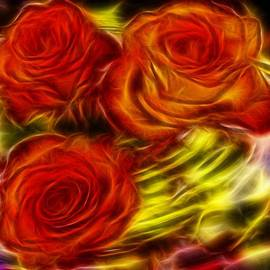 Lilia D - Red Roses in water - Fractal