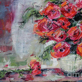 Ginette Callaway - Red Roses Still Life