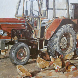 Anke Classen - Red tractor