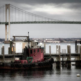 Joan Carroll - Red Tugboat and Newport Bridge II