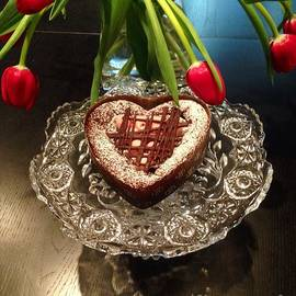 Susan Garren - Red Tulip And Chocolate Heart Dessert
