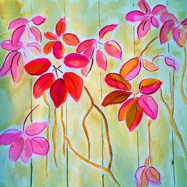 Jo Ann - Red vine leaves
