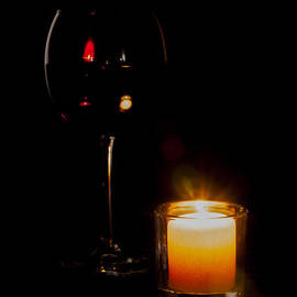Red Wine by Candlelight
