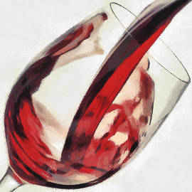 Red Wine  Into Wineglass Splash