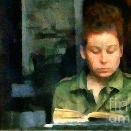 RC deWinter - Redhead Reading a Book