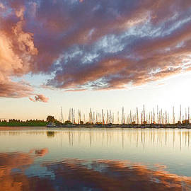 Georgia Mizuleva - Reflecting on Clouds and Yachts - Lake Ontario Impressions