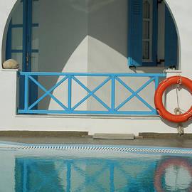 Colette V Hera  Guggenheim  - Reflections Santorini Island