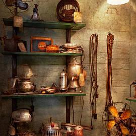 Mike Savad - Repair - In the corner of a repair shop