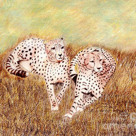 Linda Ginn - Resting Cheetahs