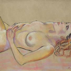 Asha Carolyn Young - Resting Woman Looking Upward and Inward