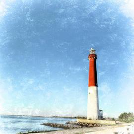 Marianne Campolongo - Retro Barnegat Lighthouse Barnegat Light New Jersey