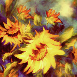 Georgiana Romanovna - Retro Sunflowers