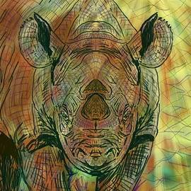 Michael African Visions - Rhino facing a new dawn
