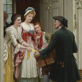 Edmund Blair Leighton - Ribbons And Laces For Very Pretty Faces
